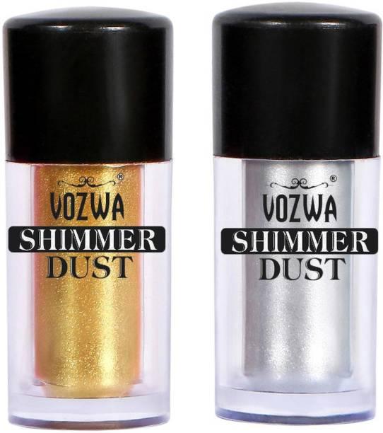 VOZWA Eyeshaodw Shimmer Dust 4g- Golden + Silver