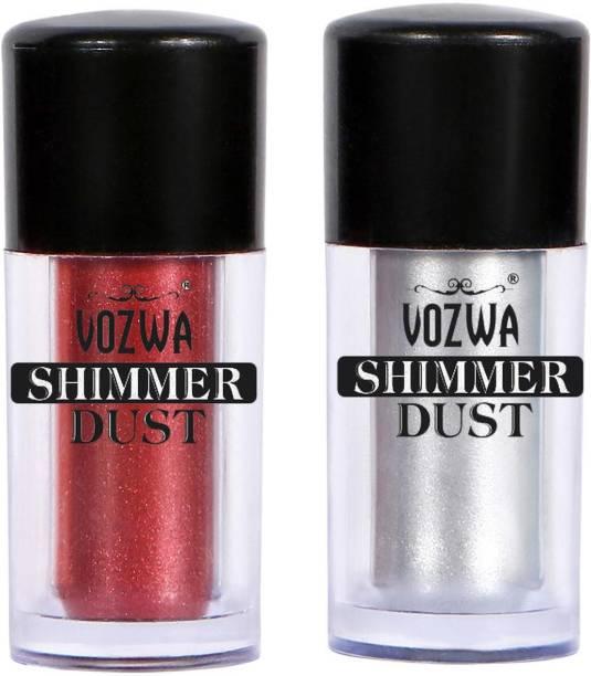 VOZWA Eyeshaodw Shimmer Dust 4g- Marron + Silver