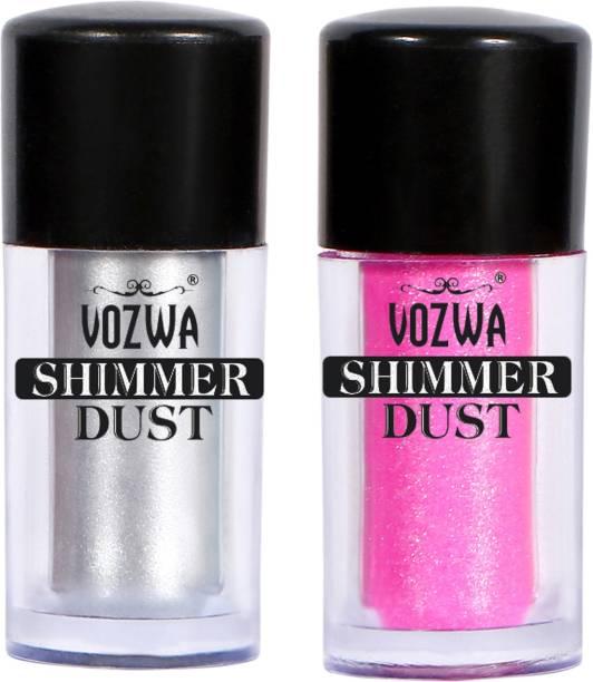 VOZWA Eyeshaodw Shimmer Dust 4g- Silver + Pink
