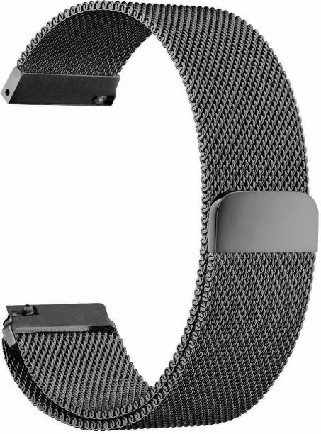 gettechgo Magnetic Milanese 22mm Band Strap Compatible for Galaxy Watch 3 45mm/Galaxy 46mm/Gear S3 Frontier,Classic/Amazfit Pace Stratos,Stratos+,Stratos3 /Huawei GT2 46mm/Honor Magic Watch 2 (46mm) & Smartwatch with 22mm Lugs Smart Watch Strap