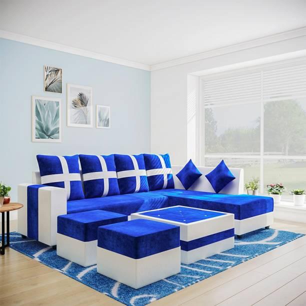 Flipkart Perfect Homes Martina Leatherette 8 Seater  Sofa