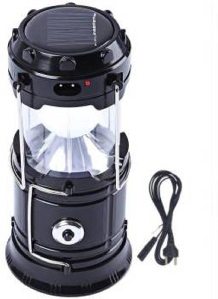 KASHUJ Solar Emergency Light Bulb Mini Fan Camping Lamp Blue Plastic Hanging Lantern Blue Plastic Hanging Lantern Sola Solar Light Set