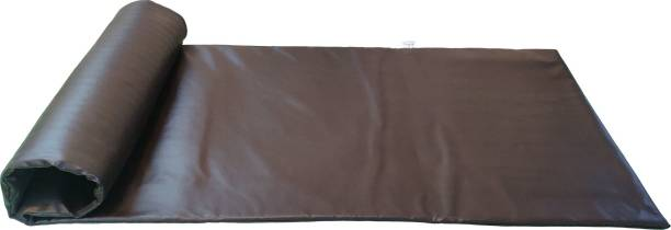 Hiputee Professional Leather Yoga Exercise Mat For Gym, Indoor & Outdoor Brown 15 mm Yoga Mat