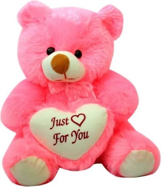 KIDBIRD 2 Feet Cute Pink Teddy Bear with Just For Teddy Bear - 61 cm (Pink)  - 61 cm