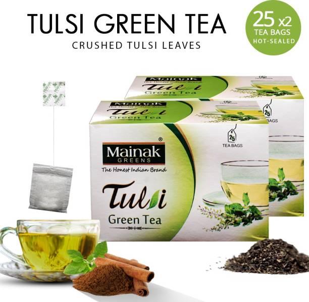 Mainak 100% Pure And Natural Tulsi Green Tea Bags Box