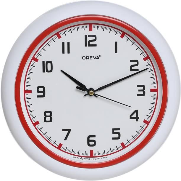OREVA Analog 25.5 cm X 25.5 cm Wall Clock