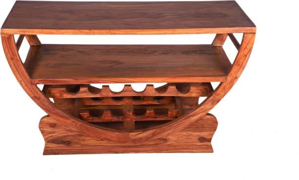 TimberManor Solid Wood Bar Trolley