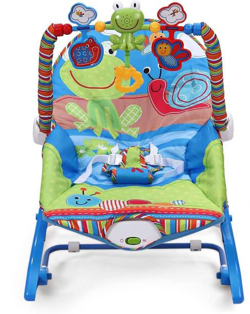 The Little Lookers Premium Quality Infant to Toddler Baby Musical Rocker (Blue) Rocker and Bouncer