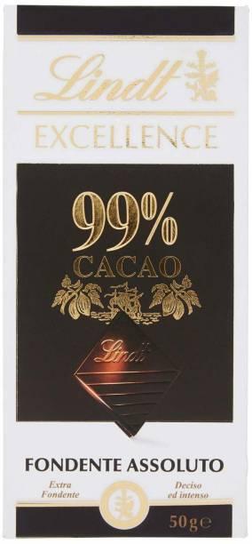 LINDT 99% Cocoa Dark Noir Absolu Chocolate - 50 Grams… Bars