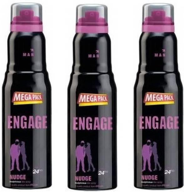 Engage Nudge Deo Spray Mega Pack,220ml Each Deodorant Spray  -  For Men & Women