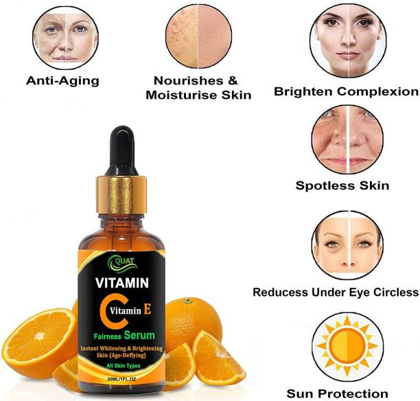 QUAT Vitamin C With Vitamin E Fairness Serum for a Brighter and Healthier Skin