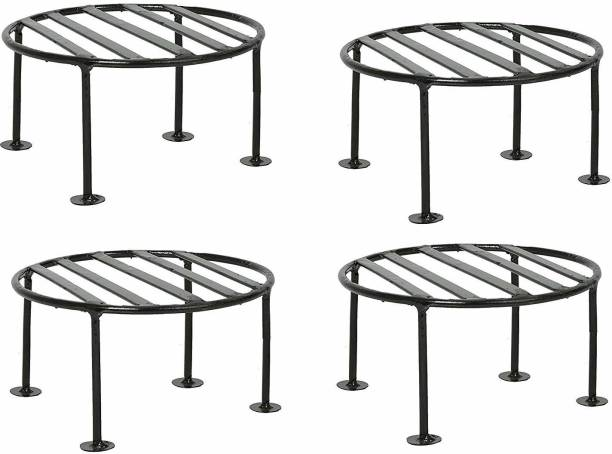 TRUPHE Rust Free Plant Stand, Flower Pot Stand, Balcony Pot Stand , Gamla Stand - Pack of 4 Plant Container Set