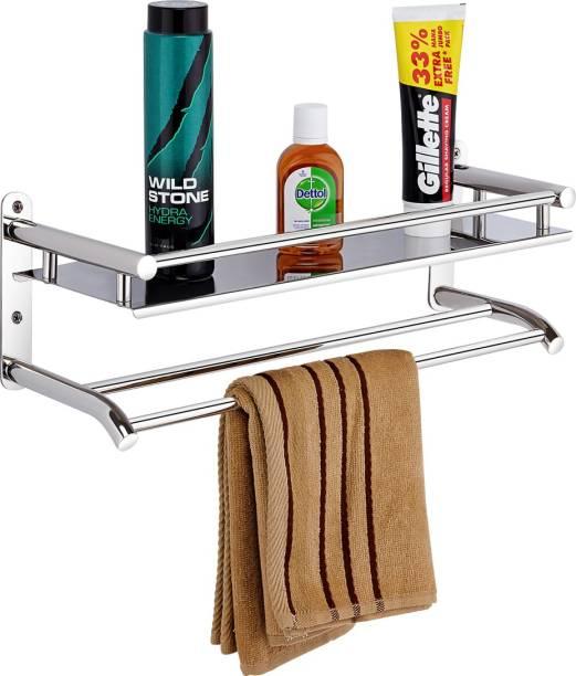 USF HIgh Grade Stainless Steel Bathroom Shelf/Kitchen Shelf/Bathroom Shelf and Rack/Bathroom Accessories Silver Finish… Stainless Steel Wall Shelf