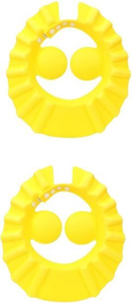 SYGA 2 Pcs Baby Shampoo Shower Bathing Protection Bath Soft Cap Soft Adjustable Visor Hat for Toddler, Baby, Kids, Children