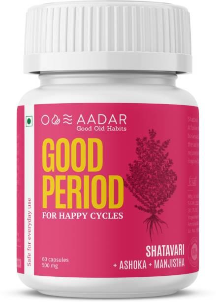 AADAR Good Period For Hormone Balance, Period Pain relief, PCOD| 60 Capsules