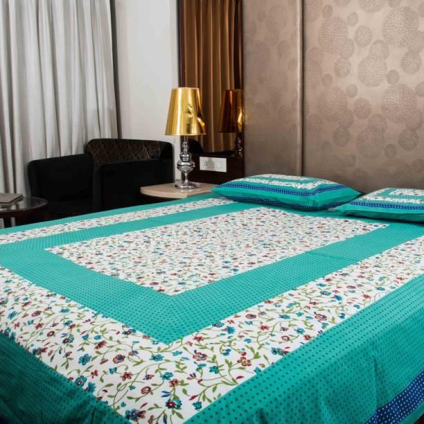 Devatwal Fashion 280 TC Cotton Double Floral Bedsheet