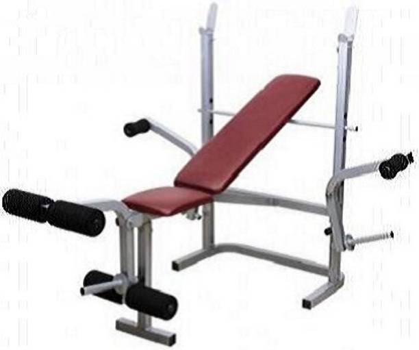 HEALTH FIT INDIA 7 in 1 ( With 155 Kg. Holding Capacity ) Multipurpose Fitness Bench