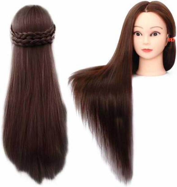 slv wigs Original Synthetic Soft Practice Cutting Coloring Makeup Dummy For Saloon With Clamp  Extension Hair Extension