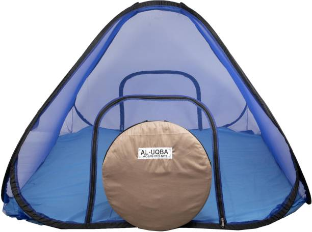 AL-UQBA Polyester Adults Heavy Quality Of It's Cotton Clothes With 190×210×120 Folding Double Bed Mosquito Net