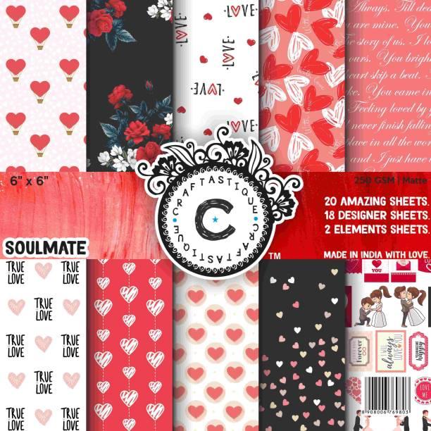 Craftastique Soulmate Designer 6 x 6 inches 250 gsm Craft paper