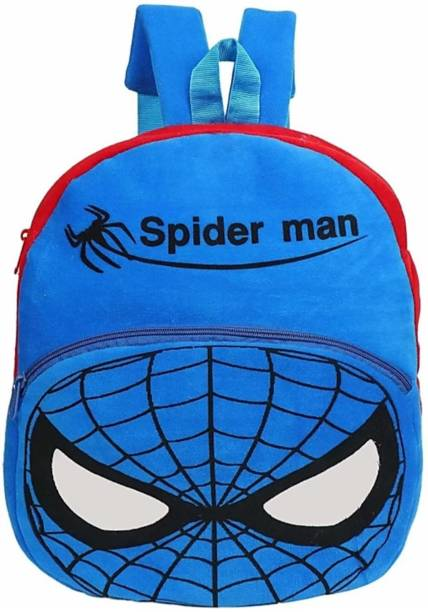 3G Collections Blue Spider Soft Toy Kids Plush Bag/School Bag/Picnic Bag/Teddy Bag For Kids 2-6yrs School Bag