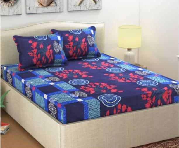 Styletex 150 TC Polyester Double 3D Printed Bedsheet