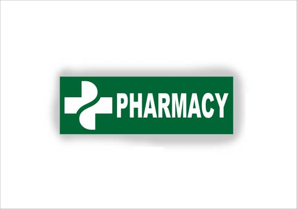 signEver Pharmacy Sign Stickers For Medical College Hospital color-Green,White (30 x 10 cm) Emergency Sign