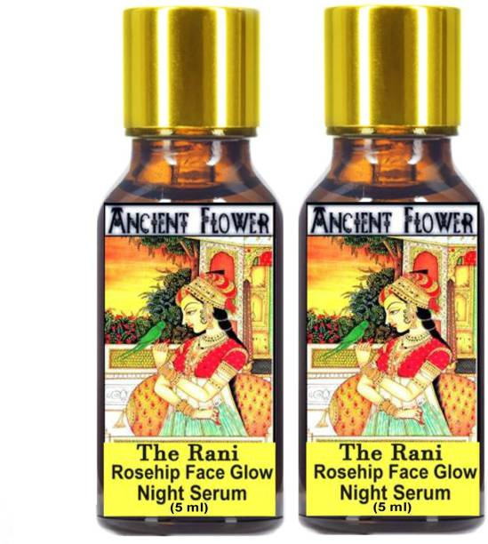 ANCIENT FLOWER - The Rani Rosehip Face Glow Night Serum oil