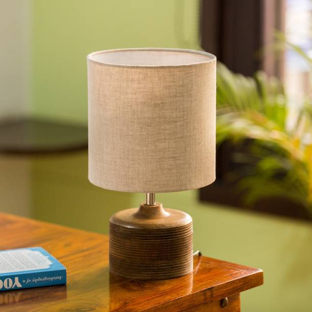 ExclusiveLane 'Starlight' Round Table Lamp In Mango Wood Table Lamp