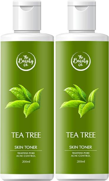 The Beauty Co. Alcohol Free Tea Tree Toner Combo for Acne-Free Skin Women