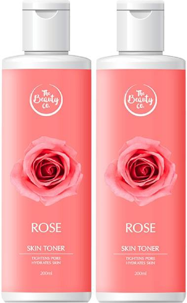 The Beauty Co. Alcohol Free Rose Toner Combo for Refreshing Skin Women