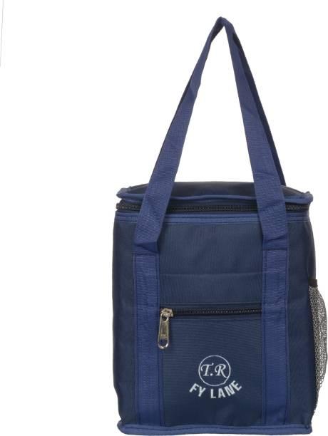 Fy Lane Waterproof Polyester Lunch Tiffin Bag for School Office Picnic (Dark Blue) Waterproof Lunch Bag