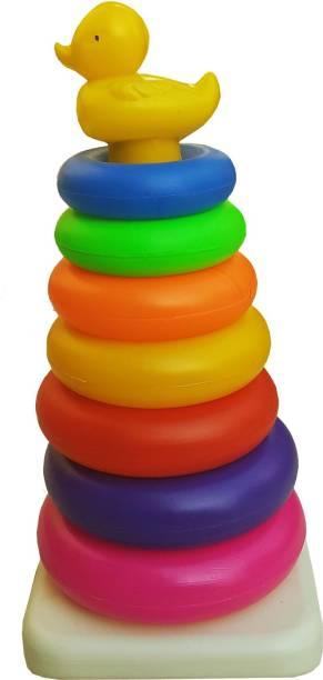 Kidsor New Born Rock-a-stack Toddler Stack-7 color Ring Sets Bath Toy