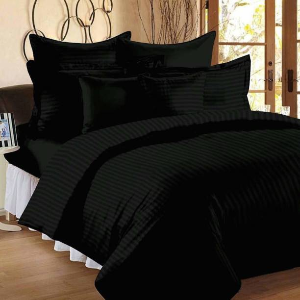 Home Elite 210 TC Cotton Double King Striped Bedsheet