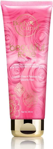 Body Cupid Beautiful Rose Shower Gel With Rose Otto Essential Oil, Aloe Vera Extract and Vitamin B5 & E - 200mL