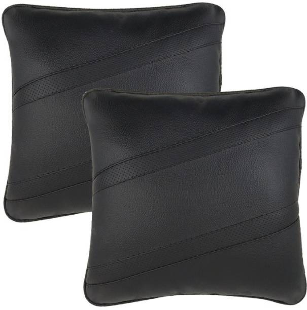 Infinity Fox Black Leatherite Car Pillow Cushion for Universal For Car