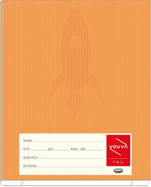 NAVNEET Youva Full Bound 15.5x18.8 cm Brown Regular Notebook Red & Blue (With Box) 172 Pages