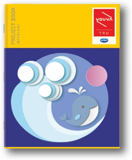 NAVNEET Youva Soft Bound Project Book 22x28 cm Regular Notebook Interleaf 64 Pages