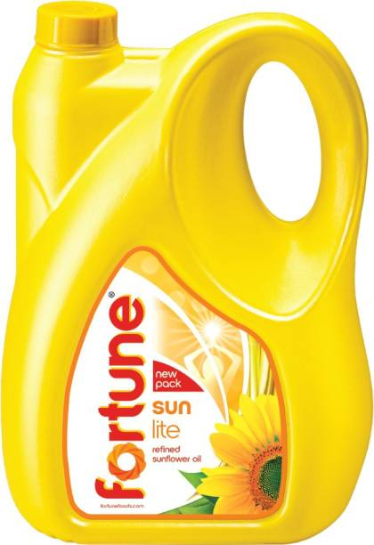 Fortune Sunlite Refined Sunflower Oil Can
