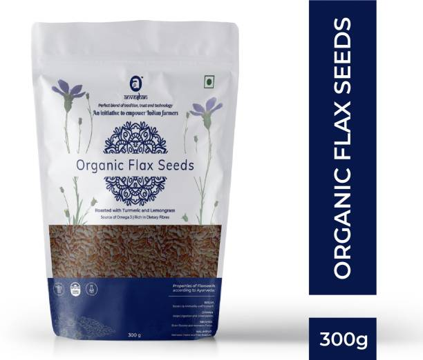 Anveshan Roasted Organic Flax Seeds, ( Rich in Omega 3 Fatty Acids and Fibre )
