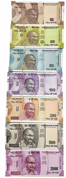 Style Mania Combo (20 Each x 7=140 Nakli Note) Playing Indian Currency Notes for Fun Paper Kids churan wale Note (( Nakli Note-10,20,50,100,200,500,2000 )) Nakli Indian Notes Gag Toy