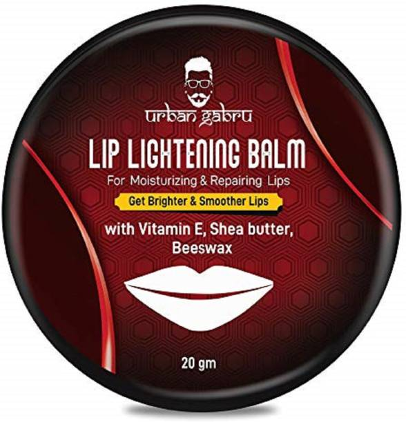 urbangabru Lip Balm/Scrub For Lightening & Brightening Dark Lips with shea butter, beeswax & vitamin-E(both Men & Women) Shea butter, Beeswax