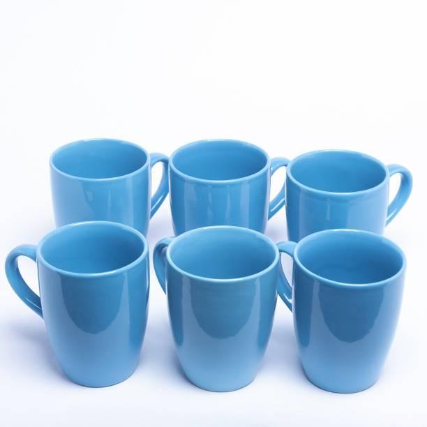 Designo Prints Plain blue colour cup set (large) Ceramic Coffee Mug