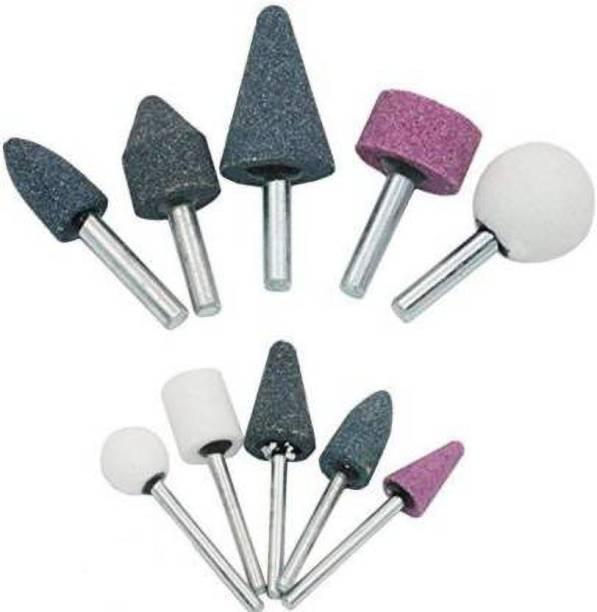tool trust 10 PcsMounted Stone Grinding Wheel Head(1/4 inch & 1/8 inch) Rotary Bit Set