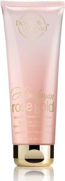 Body Cupid Himalayan Rose Gold Scrub With Rose Water, Gold Mica, Walnut Shell Powder & Vitamin E-200mL Scrub