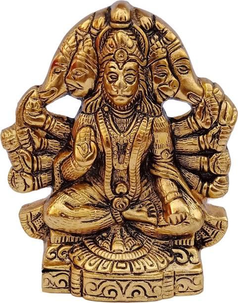 WELLWISHERS CRAFT Panchmukhi Hanuman ji Idol/Murti/Bajrangbali Murti Decorative Showpiece Decorative Showpiece  -  14 cm
