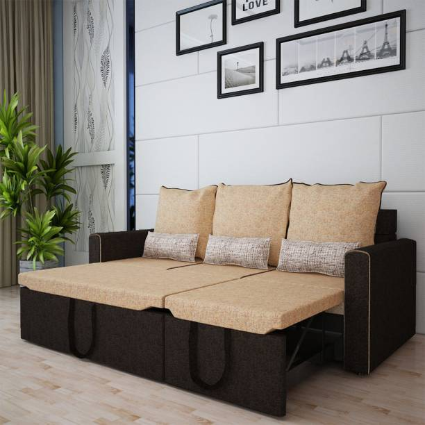 Sofame Ritz Double Solid Wood, Metal Sofa Bed