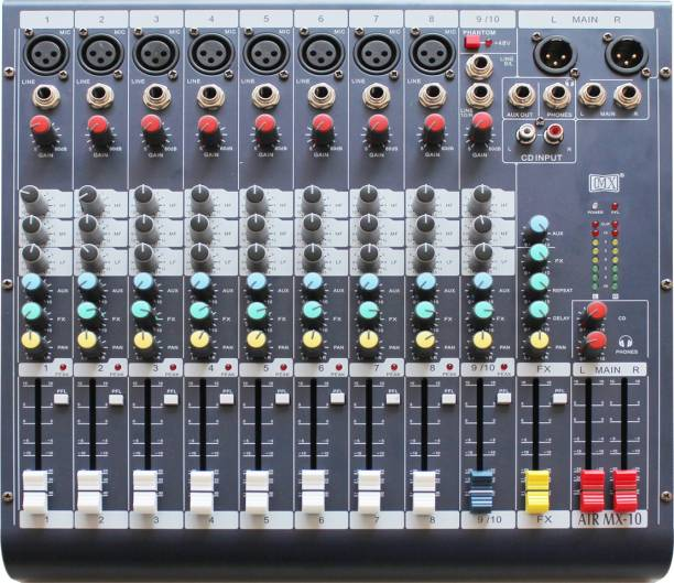 MX Live Audio Mixer 10 Channel Professional Mixer -AIR10 Analog Sound Mixer
