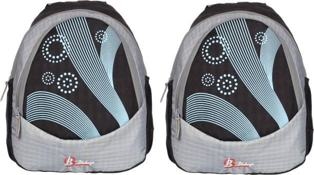 blubags Casual Backpack    Laptop Bag    College Bag    Waterproof Backpack Pack Of 2 15 L Backpack