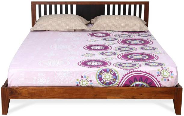 @Home by nilkamal Roxwell Solid Wood Queen Bed